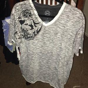 Marco Ecko Cut&Sew Batman & Catwoman T-shirt EUC